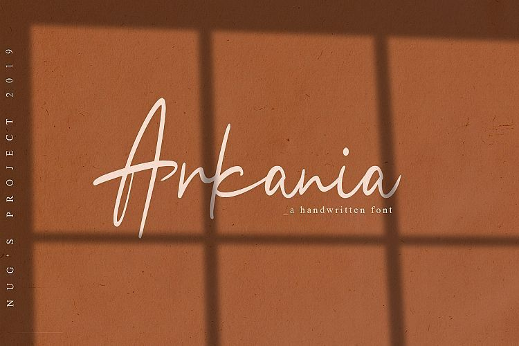 Arkania Handwritten Font-1