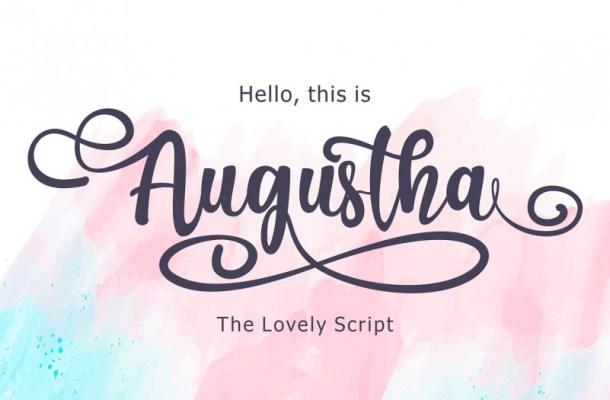 Augustha Script Font