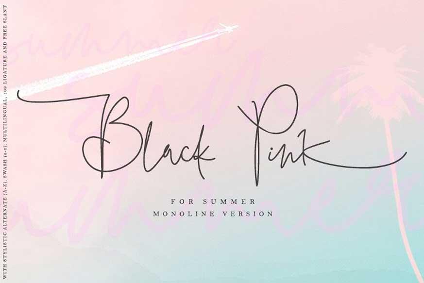 Black Pink Summer Font-1