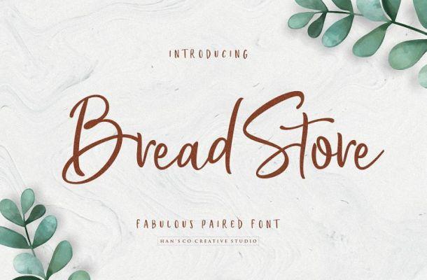 Bread Store Script Font