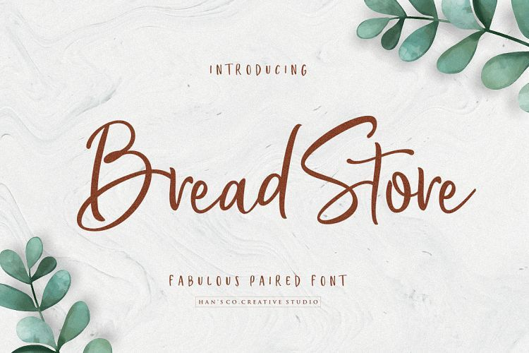 Bread Store Script Font-1