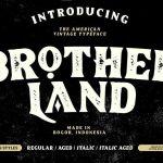Brotherland American Vintage Font