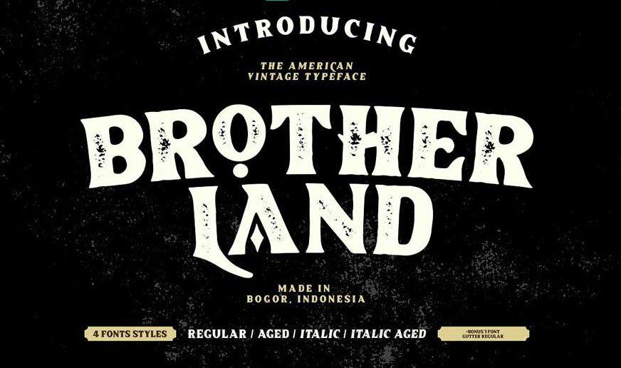Download Brotherland American Vintage Font - Dafont Free
