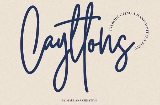 Cayttons Signature Font