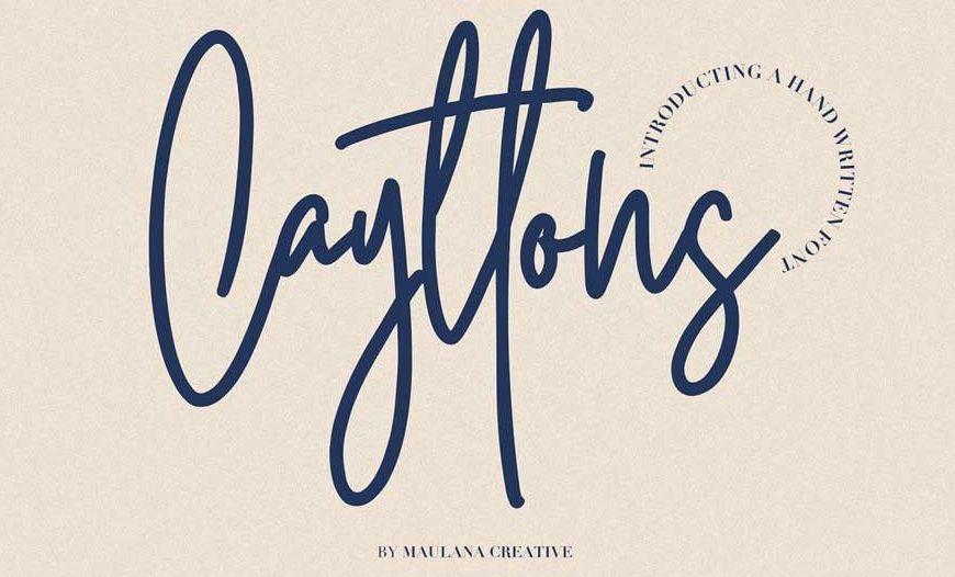 Cayttons Signature Font-1