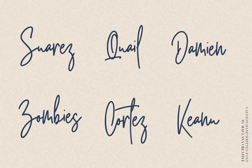 Cayttons Signature Font-2