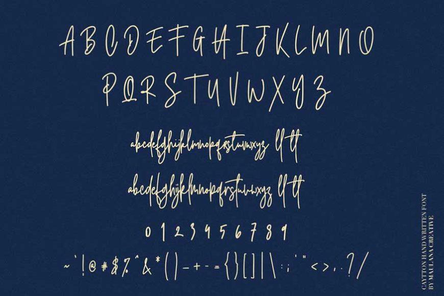 Cayttons Signature Font-3