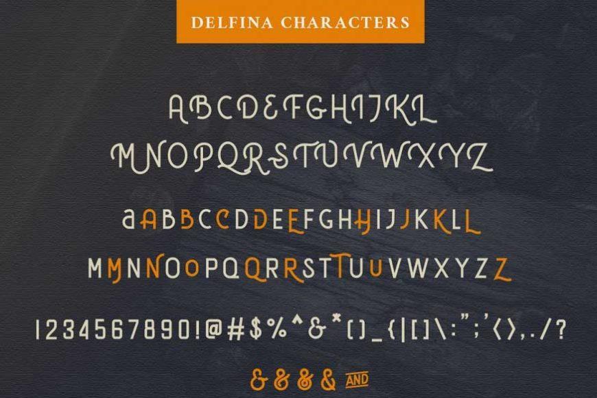 DELFINA Vintage Font-4