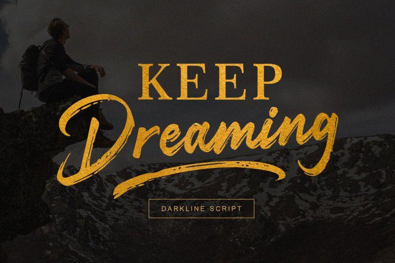 Darkline Brush Font-1