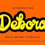Debora Retro Handwritten Script