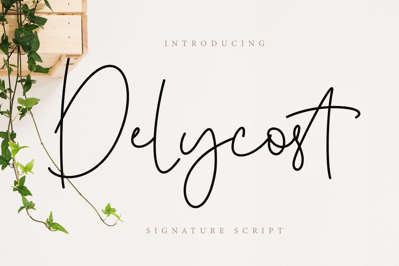 Delycost Signature Font - Dafont Free