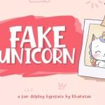 Fake Unicorn Font