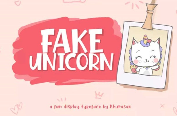 Fake Unicorn Font