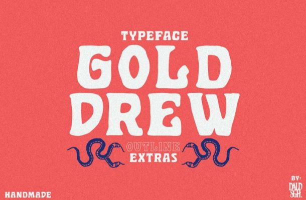 Golddrew Display Font-1