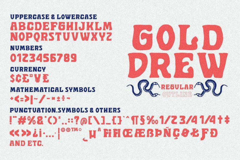 Golddrew Display Font-3