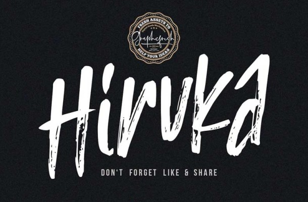 HIRUKA Handbrushed Font