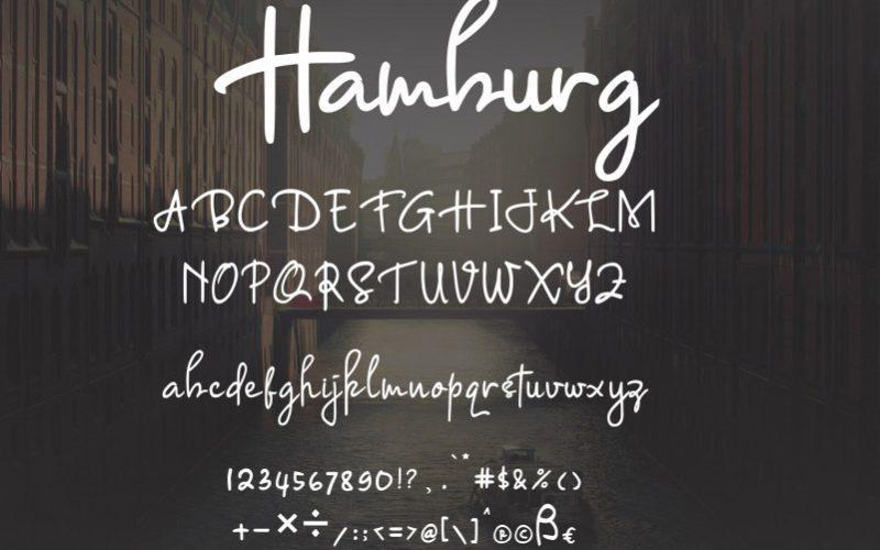 Hamburg Signature Font-3