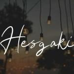 Hesgaki Luxury Signature Font