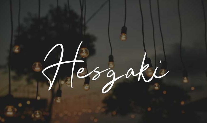 Hesgaki Luxury Signature Font-1