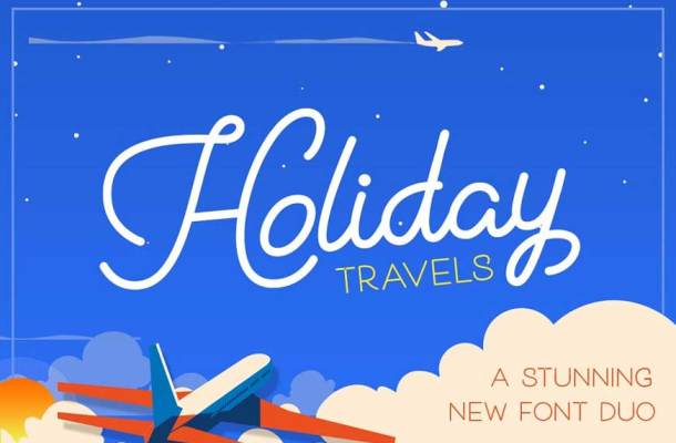 Holiday Travel Font Duo