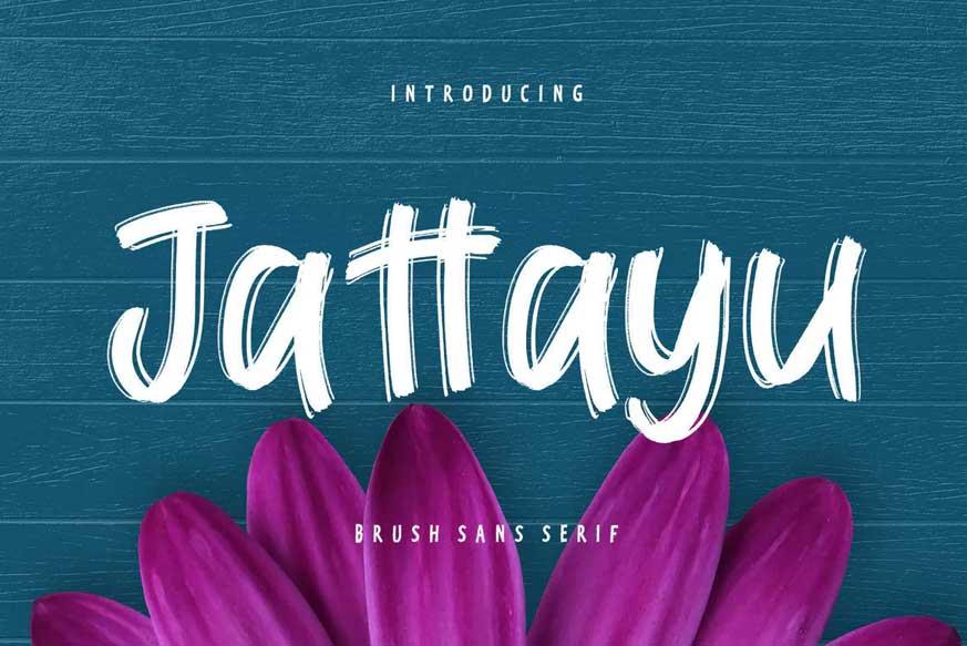 Jattayu Sans Serif Brush Font-1