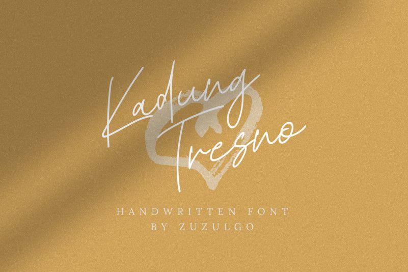 Kadung Tresno Handwritten Font-1