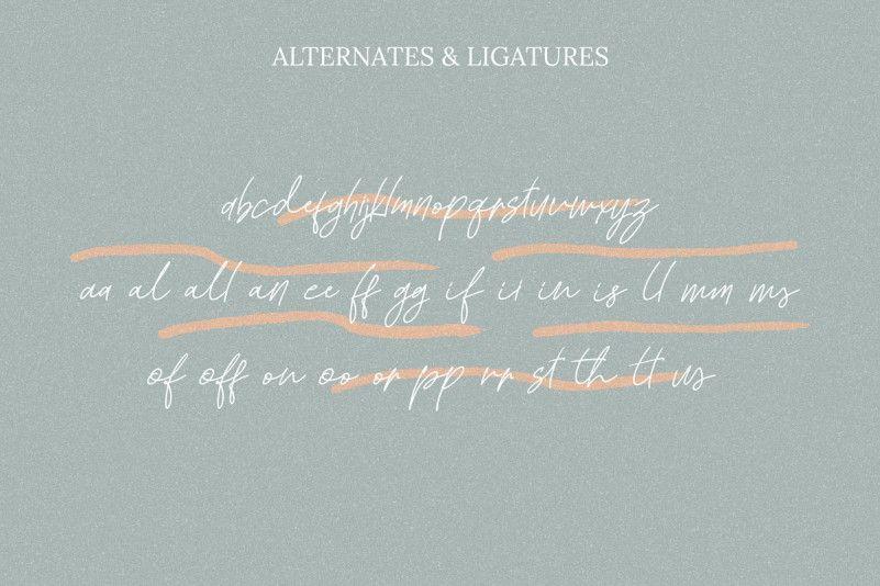 Kadung Tresno Handwritten Font-3