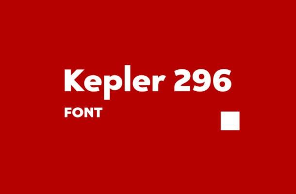 Kepler 296 Sans Font
