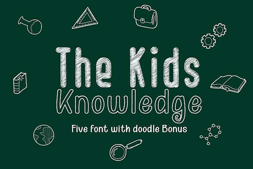 Kid Knowledge Font-1
