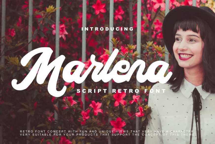Marlena Script Retro Font-1