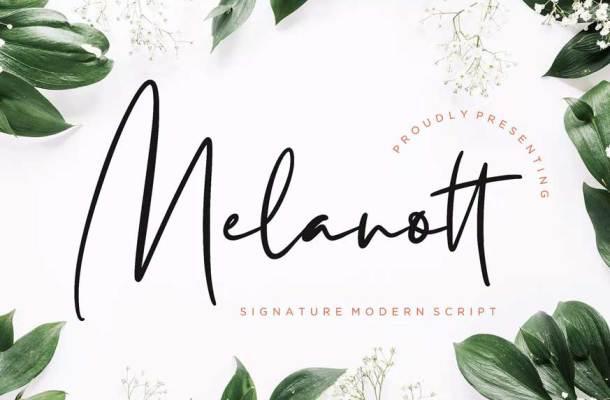 Melanott Modern Signature Font