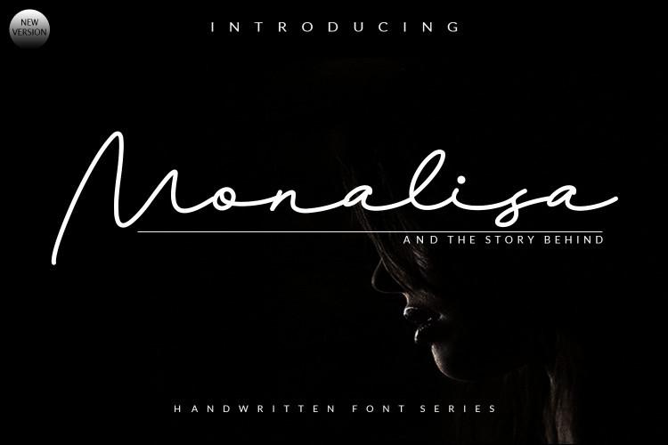 Monalisa Signature Font-1