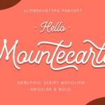 Mountecarlo Monoline Script Font