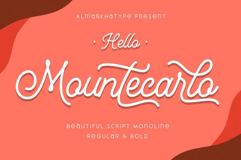 Mountecarlo Monoline Script Font-1