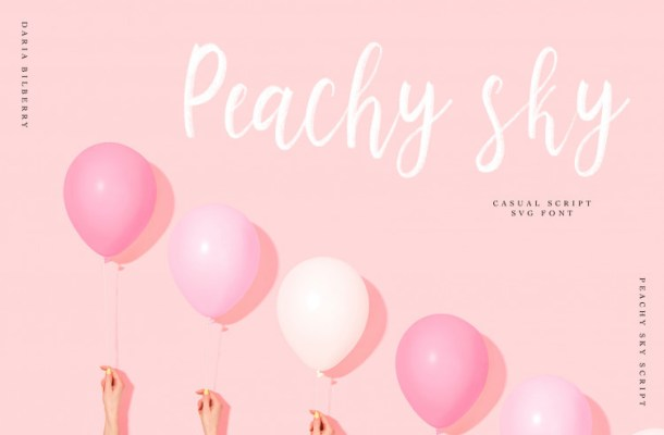 Peachy Sky SVG Script Font