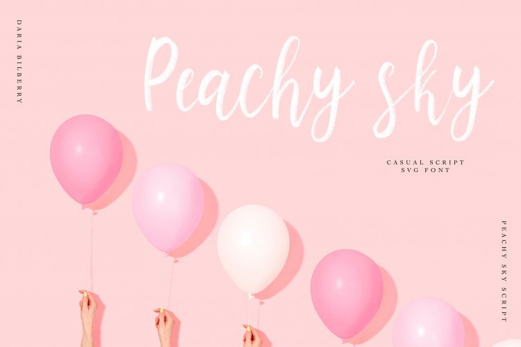 Peachy Sky SVG Script Font-1