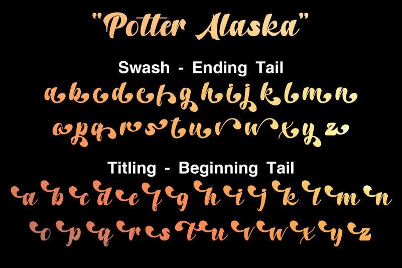 Potter Alaska Font-3