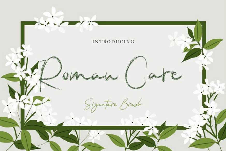 Roman Care Font-1