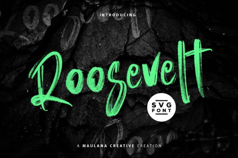 Roosevelt SVG Brush Font-1