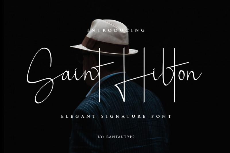 Saint Hilton Signature Font-1