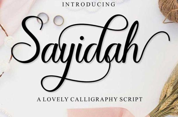 Sayidah Lovely Script Font