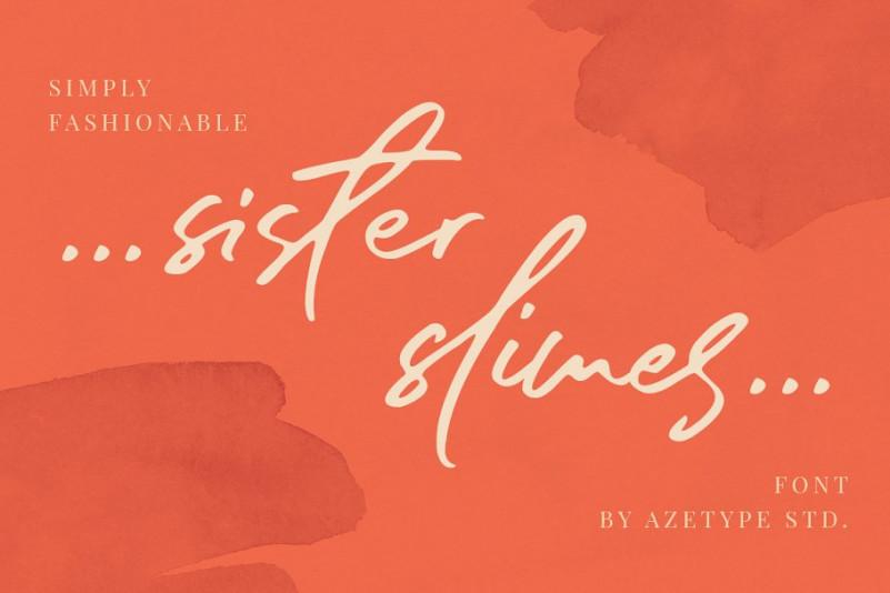 Sister Slimes Script Font-1