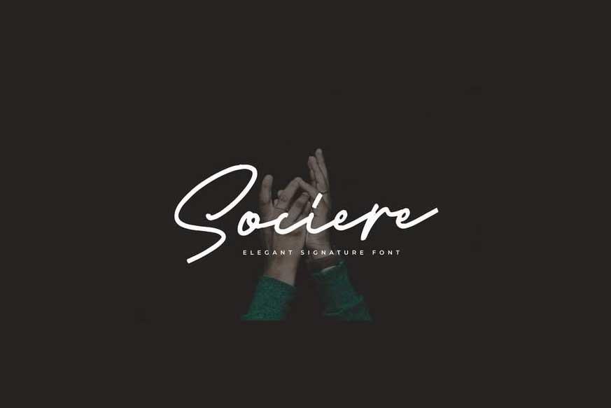 Sociere Elegant Signature Font-1
