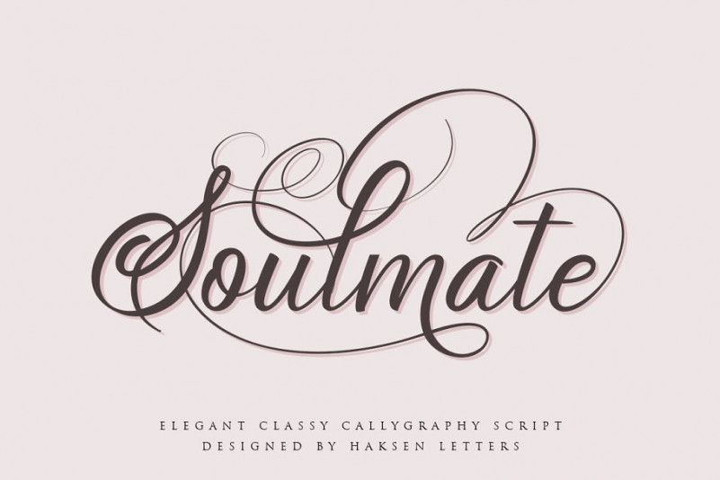 Soulmate Calligraphy Font-1
