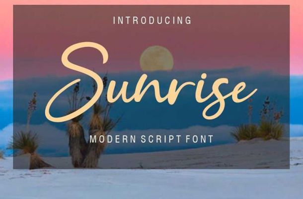 Sunrice Font