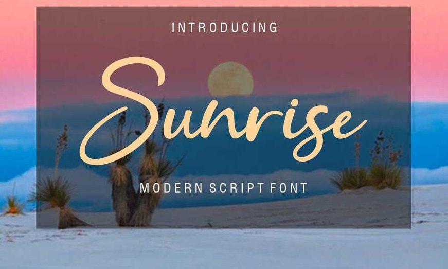 Sunrice Font-1
