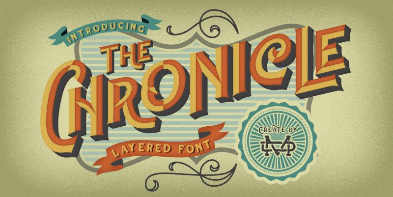 The Chronicle Layered Font-1