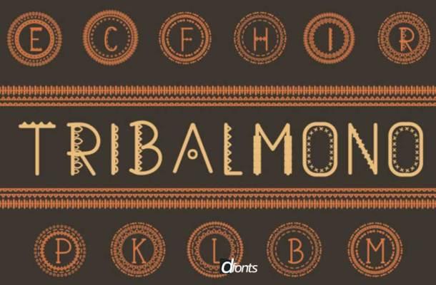 Tribalmono Font-1