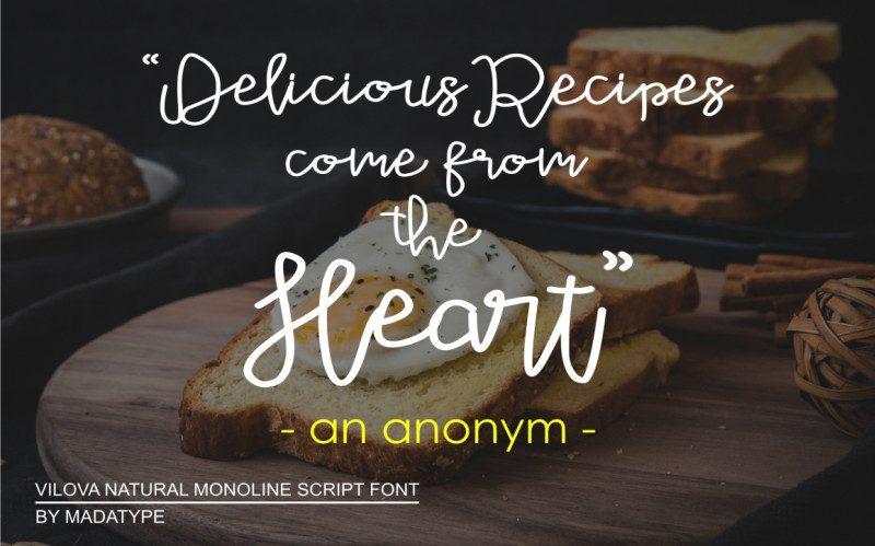 Vilova Script Font-3