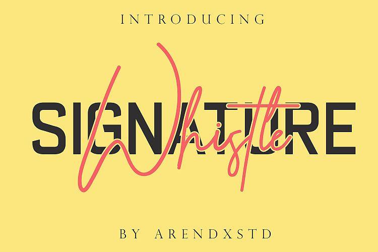 Whistle Signature Font-1